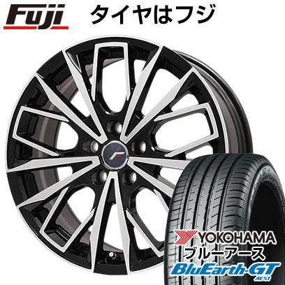 タイヤはフジ 送料無料 LEHRMEISTER レアマイスター L-Fファースト ブラックポリッシュ(平座ナット) 7J 7.00-17 YOKOHAMA ブルーアース GT AE51 215/45R17 17インチ サマータイヤ ホイール4本セット