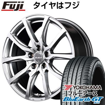 タイヤはフジ 送料無料 MID ユーロスピード G52 8J 8.00-18 YOKOHAMA ブルーアース GT AE51 225/45R18 18インチ サマータイヤ ホイール4本セット