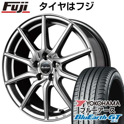 タイヤはフジ 送料無料 MID ユーロスピード G810 7J 7.00-17 YOKOHAMA ブルーアース GT AE51 215/55R17 17インチ サマータイヤ ホイール4本セット