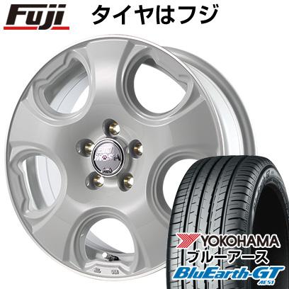 タイヤはフジ 送料無料 MID モッシュキャット 6J 6.00-15 YOKOHAMA ブルーアース GT AE51 195/65R15 15インチ サマータイヤ ホイール4本セット