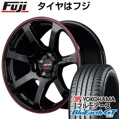 タイヤはフジ 送料無料 MID RMP レーシング R07 7.5J 7.50-18 YOKOHAMA ブルーアース GT AE51 225/40R18 18インチ サマータイヤ ホイール4本セット