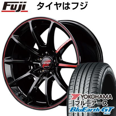 タイヤはフジ 送料無料 MID RMP レーシング R25 7.5J 7.50-18 YOKOHAMA ブルーアース GT AE51 235/50R18 18インチ サマータイヤ ホイール4本セット