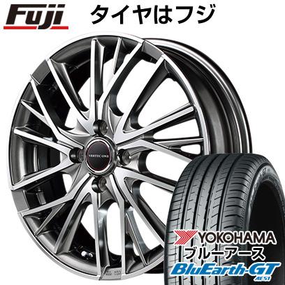 タイヤはフジ 送料無料 MID ヴァーテックワン ヴァルチャー 4.5J 4.50-15 YOKOHAMA ブルーアース GT AE51 165/55R15 15インチ サマータイヤ ホイール4本セット
