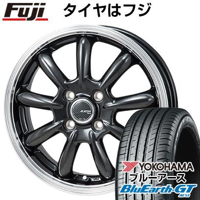 8月 2・5・8日はポイント倍増! タイヤはフジ 送料無料 MONZA モンツァ JPスタイル バーニー 4.5J 4.50-15 YOKOHAMA ブルーアース GT AE51 165/55R15 15インチ サマータイヤ ホイール4本セット