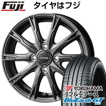 タイヤはフジ 送料無料 TOPY トピー アザーネ E10 4.5J 4.50-15 YOKOHAMA ブルーアース GT AE51 165/55R15 15インチ サマータイヤ ホイール4本セット