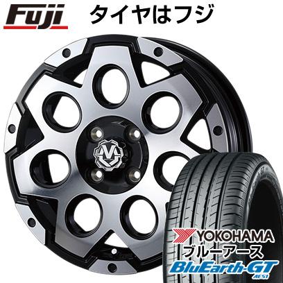 8月 2・5・8日はポイント倍増! タイヤはフジ 送料無料 WEDS ウェッズ マッドヴァンス 03 5J 5.00-15 YOKOHAMA ブルーアース GT AE51 165/55R15 15インチ サマータイヤ ホイール4本セット