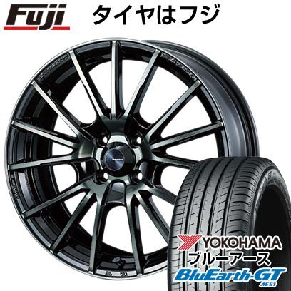 タイヤはフジ 送料無料 WEDS ウェッズスポーツ SA-35R 6J 6.00-15 YOKOHAMA ブルーアース GT AE51 185/60R15 15インチ サマータイヤ ホイール4本セット