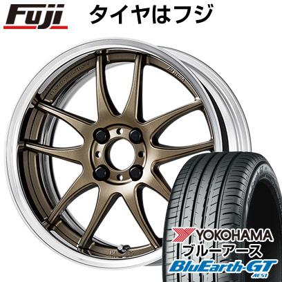 タイヤはフジ 送料無料 WORK ワーク エモーション CR 2P 6J 6.00-16 YOKOHAMA ブルーアース GT AE51 195/45R16 16インチ サマータイヤ ホイール4本セット