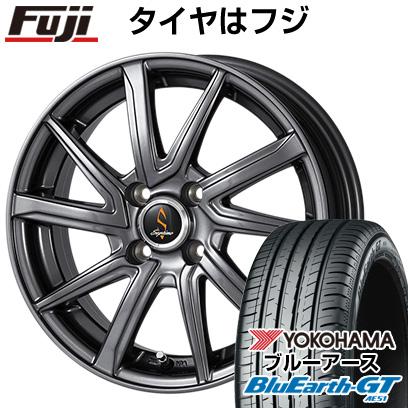 タイヤはフジ 送料無料 WORK ワーク セプティモ G01 ダークグレー 5.5J 5.50-15 YOKOHAMA ブルーアース GT AE51 185/55R15 15インチ サマータイヤ ホイール4本セット