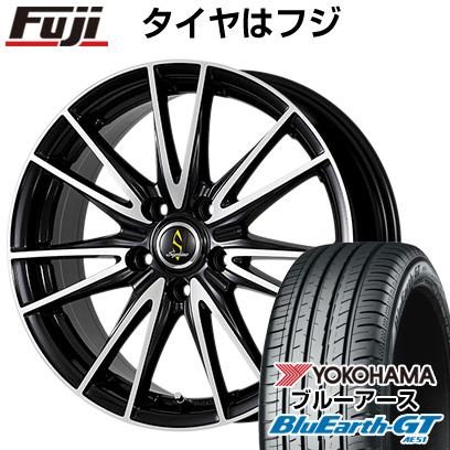 タイヤはフジ 送料無料 WORK ワーク セプティモ G02 ブラックポリッシュ 6J 6.00-15 YOKOHAMA ブルーアース GT AE51 195/65R15 15インチ サマータイヤ ホイール4本セット