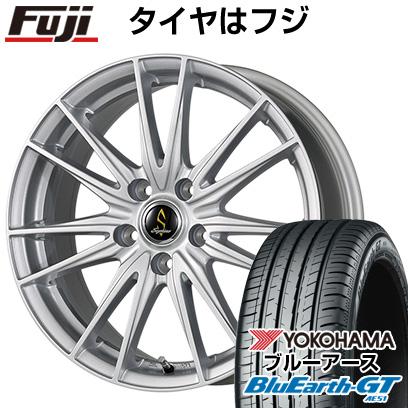 タイヤはフジ 送料無料 WORK ワーク セプティモ G02 シルバーメタリック 6J 6.00-15 YOKOHAMA ブルーアース GT AE51 195/65R15 15インチ サマータイヤ ホイール4本セット