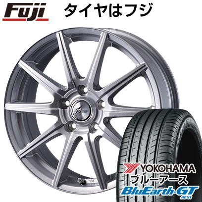 タイヤはフジ 送料無料 INTER MILANO インターミラノ ゼファー SR10J 6J 6.00-15 YOKOHAMA ブルーアース GT AE51 195/65R15 15インチ サマータイヤ ホイール4本セット