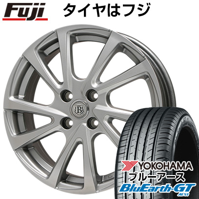 タイヤはフジ 送料無料 BRANDLE ブランドル E04 4.5J 4.50-14 YOKOHAMA ブルーアース GT AE51 155/65R14 14インチ サマータイヤ ホイール4本セット