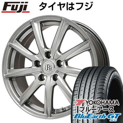 タイヤはフジ 送料無料 BRANDLE ブランドル E05 6.5J 6.50-16 YOKOHAMA ブルーアース GT AE51 195/50R16 16インチ サマータイヤ ホイール4本セット