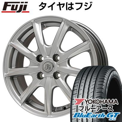 タイヤはフジ 送料無料 BRANDLE ブランドル E05 4.5J 4.50-14 YOKOHAMA ブルーアース GT AE51 155/65R14 14インチ サマータイヤ ホイール4本セット