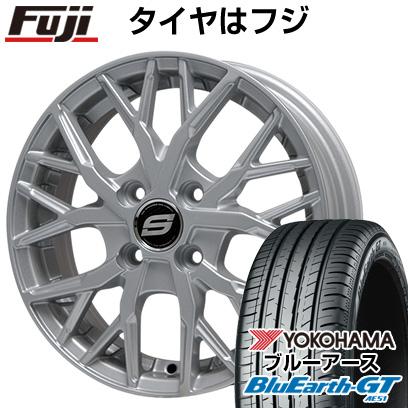 タイヤはフジ 送料無料 BRANDLE ブランドル TM20 6.5J 6.50-16 YOKOHAMA ブルーアース GT AE51 195/50R16 16インチ サマータイヤ ホイール4本セット