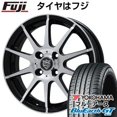 タイヤはフジ 送料無料 BRANDLE ブランドル 562B 4.5J 4.50-15 YOKOHAMA ブルーアース GT AE51 165/55R15 15インチ サマータイヤ ホイール4本セット