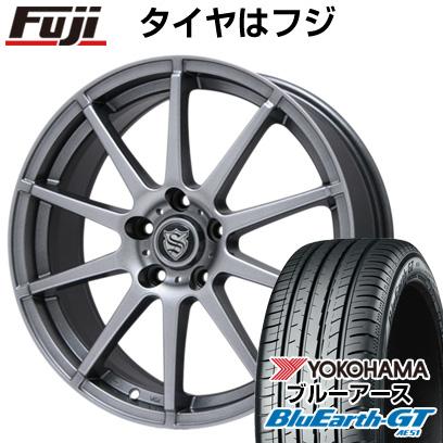 タイヤはフジ 送料無料 BRANDLE ブランドル 562 7J 7.00-17 YOKOHAMA ブルーアース GT AE51 205/50R17 17インチ サマータイヤ ホイール4本セット