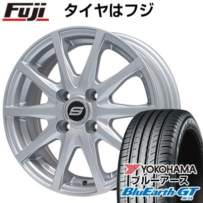 タイヤはフジ 送料無料 BRANDLE ブランドル M71 4.5J 4.50-14 YOKOHAMA ブルーアース GT AE51 155/65R14 14インチ サマータイヤ ホイール4本セット