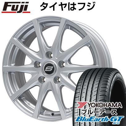 8月 2・5・8日はポイント倍増! タイヤはフジ 送料無料 BRANDLE ブランドル M71 7J 7.00-17 YOKOHAMA ブルーアース GT AE51 215/55R17 17インチ サマータイヤ ホイール4本セット