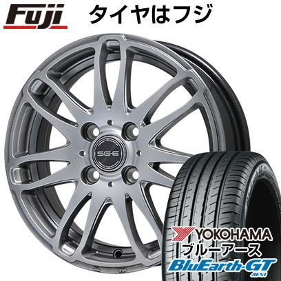 タイヤはフジ 送料無料 BRANDLE ブランドル G72 5.5J 5.50-14 YOKOHAMA ブルーアース GT AE51 175/65R14 14インチ サマータイヤ ホイール4本セット