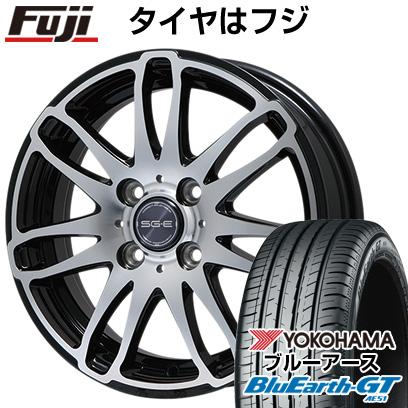 タイヤはフジ 送料無料 BRANDLE ブランドル G72B 5.5J 5.50-15 YOKOHAMA ブルーアース GT AE51 185/55R15 15インチ サマータイヤ ホイール4本セット