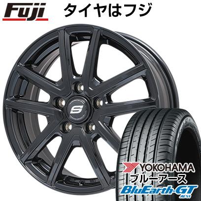 タイヤはフジ 送料無料 BRANDLE ブランドル M61B 7J 7.00-17 YOKOHAMA ブルーアース GT AE51 215/45R17 17インチ サマータイヤ ホイール4本セット