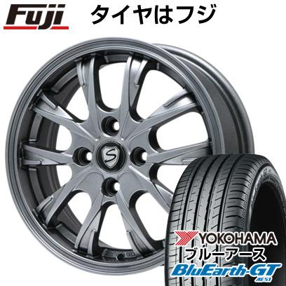 タイヤはフジ 送料無料 BRANDLE ブランドル 486 5.5J 5.50-15 YOKOHAMA ブルーアース GT AE51 175/65R15 15インチ サマータイヤ ホイール4本セット