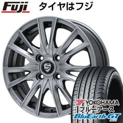 タイヤはフジ 送料無料 BRANDLE ブランドル 485 5.5J 5.50-14 YOKOHAMA ブルーアース GT AE51 175/65R14 14インチ サマータイヤ ホイール4本セット