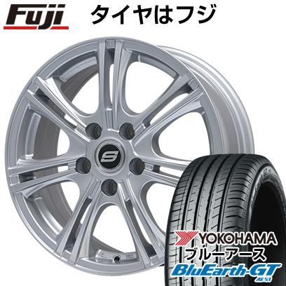 タイヤはフジ 送料無料 BRANDLE ブランドル M68 6.5J 6.50-16 YOKOHAMA ブルーアース GT AE51 185/55R16 16インチ サマータイヤ ホイール4本セット