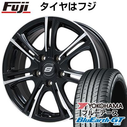 タイヤはフジ 送料無料 BRANDLE ブランドル M68BP 6J 6.00-15 YOKOHAMA ブルーアース GT AE51 205/65R15 15インチ サマータイヤ ホイール4本セット