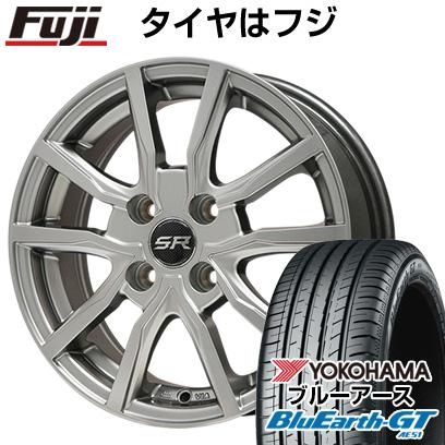 タイヤはフジ 送料無料 BRANDLE ブランドル N52 5.5J 5.50-15 YOKOHAMA ブルーアース GT AE51 175/65R15 15インチ サマータイヤ ホイール4本セット