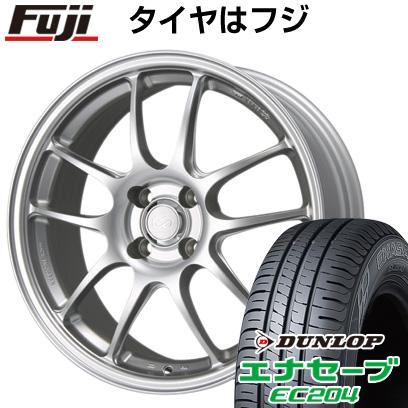 タイヤはフジ 送料無料 ENKEI エンケイ PF01 6.5J 6.50-16 DUNLOP エナセーブ EC204 185/55R16 16インチ サマータイヤ ホイール4本セット