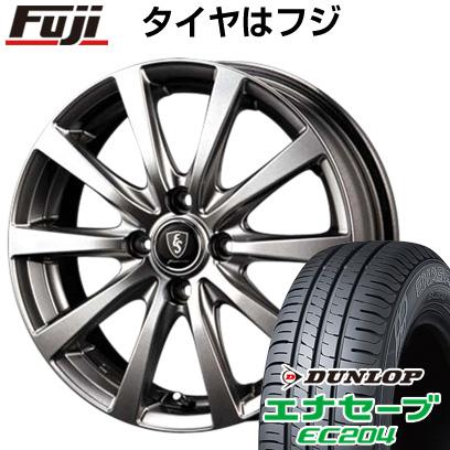 タイヤはフジ 送料無料 MID ユーロスピード G10 5.5J 5.50-15 DUNLOP エナセーブ EC204 185/60R15 15インチ サマータイヤ ホイール4本セット