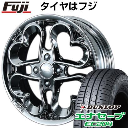 タイヤはフジ 送料無料 PIAA ジュエルハート 4.5J 4.50-14 DUNLOP エナセーブ EC204 165/60R14 14インチ サマータイヤ ホイール4本セット