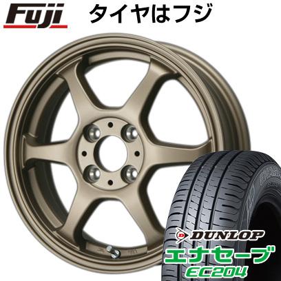 タイヤはフジ 送料無料 LEHRMEISTER リアルスポーツ カリスマVS6 4.5J 4.50-14 DUNLOP エナセーブ EC204 165/65R14 14インチ サマータイヤ ホイール4本セット