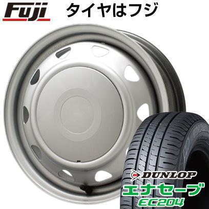 タイヤはフジ 送料無料 ELBE エルベ オリジナル スチール 4.5J 4.50-14 DUNLOP エナセーブ EC204 155/65R14 14インチ サマータイヤ ホイール4本セット