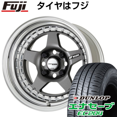 タイヤはフジ 送料無料 WORK ワーク マイスター CR01 7J 7.00-16 DUNLOP エナセーブ EC204 205/55R16 16インチ サマータイヤ ホイール4本セット