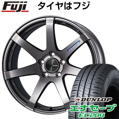 タイヤはフジ 送料無料 ENKEI エンケイ PF07 6J 6.00-15 DUNLOP エナセーブ EC204 195/55R15 15インチ サマータイヤ ホイール4本セット