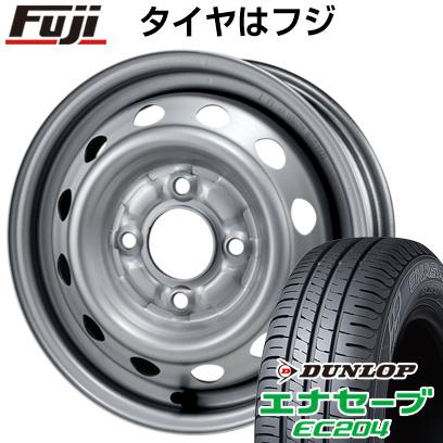 タイヤはフジ 送料無料 ELBE エルベ オリジナル スチール020 4J 4.00-13 DUNLOP エナセーブ EC204 155/70R13 13インチ サマータイヤ ホイール4本セット