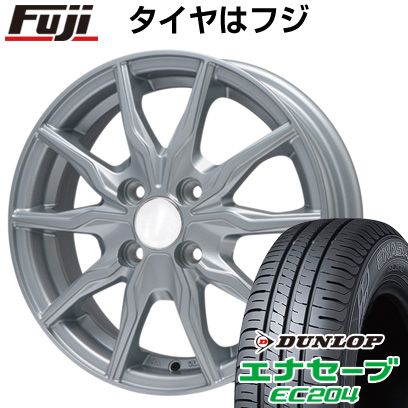 タイヤはフジ 送料無料 BRANDLE ブランドル 008 4J 4.00-13 DUNLOP エナセーブ EC204 155/70R13 13インチ サマータイヤ ホイール4本セット