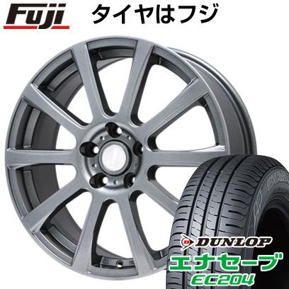 タイヤはフジ 送料無料 BRANDLE ブランドル 565T 7J 7.00-17 DUNLOP エナセーブ EC204 215/55R17 17インチ サマータイヤ ホイール4本セット