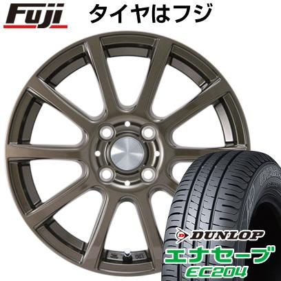 タイヤはフジ 送料無料 カジュアルセット タイプB17 ブロンズ 4J 4.00-13 DUNLOP エナセーブ EC204 165/65R13 13インチ サマータイヤ ホイール4本セット