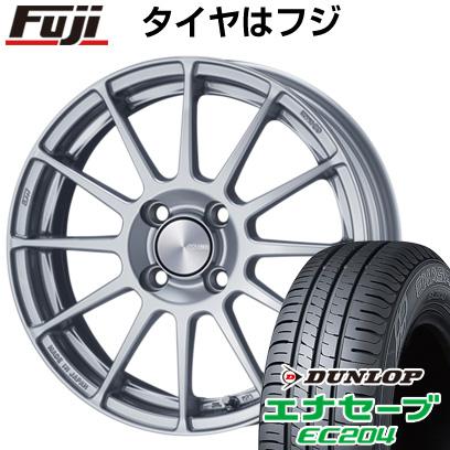 タイヤはフジ 送料無料 ENKEI エンケイ PF03 6J 6.00-15 DUNLOP エナセーブ EC204 175/55R15 15インチ サマータイヤ ホイール4本セット
