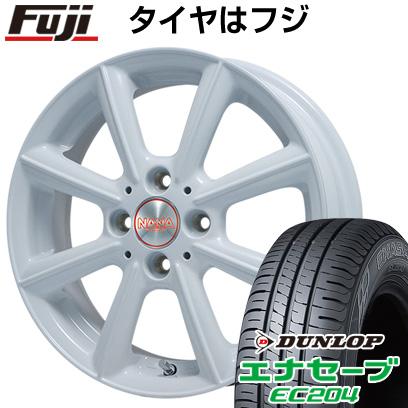 タイヤはフジ 送料無料 PREMIX プレミックス ナナ(ホワイト) 4.5J 4.50-14 DUNLOP エナセーブ EC204 155/65R14 14インチ サマータイヤ ホイール4本セット