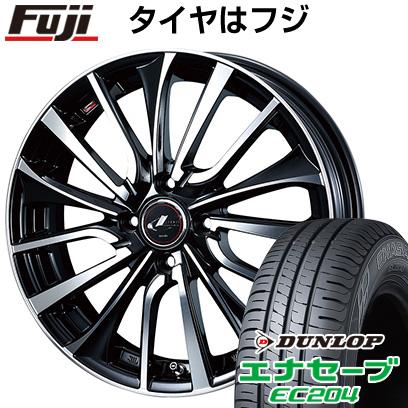 タイヤはフジ 送料無料 WEDS ウェッズ レオニス VT 5.5J 5.50-15 DUNLOP エナセーブ EC204 175/65R15 15インチ サマータイヤ ホイール4本セット