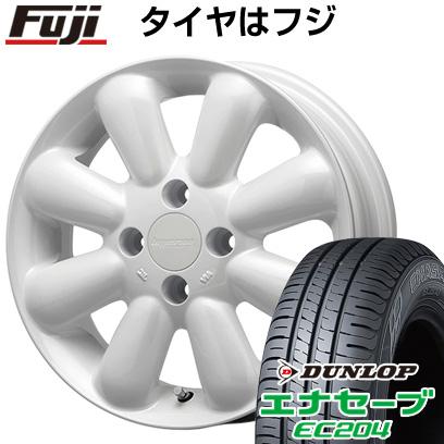 タイヤはフジ 送料無料 MLJ ハイペリオン ピノプラス 4.5J 4.50-15 DUNLOP エナセーブ EC204 165/50R15 15インチ サマータイヤ ホイール4本セット