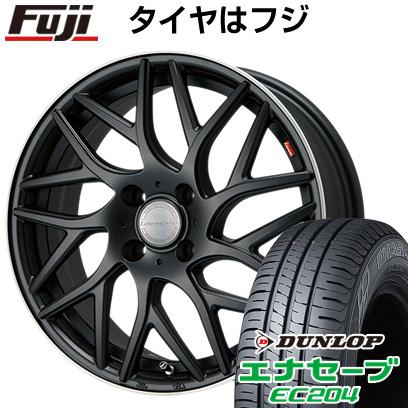 タイヤはフジ 送料無料 LEHRMEISTER レアマイスター キャンティ(マットブラック/リムポリッシュ) 6.5J 6.50-16 DUNLOP エナセーブ EC204 185/60R16 16インチ サマータイヤ ホイール4本セット