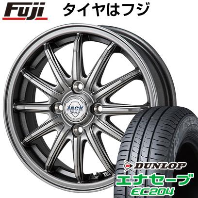タイヤはフジ 送料無料 MONZA モンツァ ZACK JP-812 4.5J 4.50-14 DUNLOP エナセーブ EC204 155/65R14 14インチ サマータイヤ ホイール4本セット