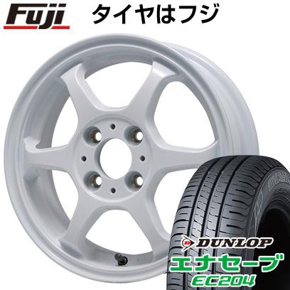 タイヤはフジ 送料無料 LEHRMEISTER リアルスポーツ カリスマVS6 5J 5.00-14 DUNLOP エナセーブ EC204 165/65R14 14インチ サマータイヤ ホイール4本セット